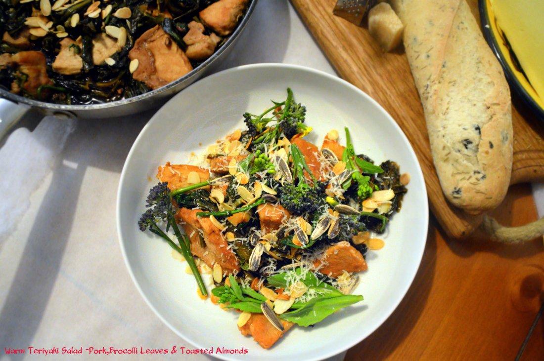 Teriyaki Pork and Brocoli leaves salad 2140 kb