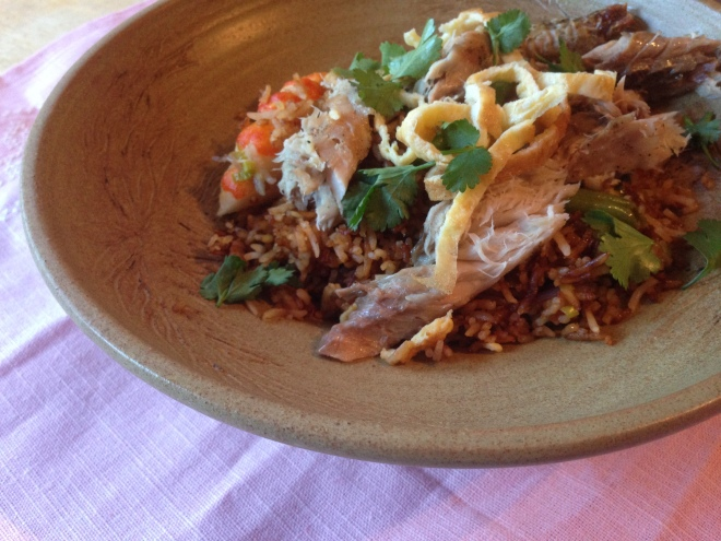 Indonesian Fried Rice with Baked mackerel 014