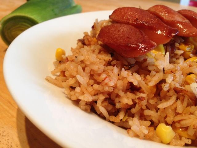 Leeks and sweetcorn Fried rice 009