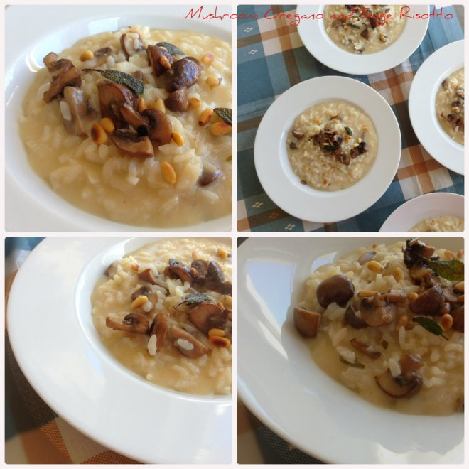 Mushroom Oregano and Sage Risotto