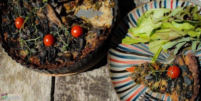 Vegan Mushroom and Kale Pie in a Potato Crust